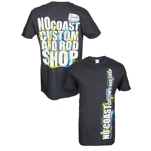 No Coast Custom and Rod Shop Paint Splatter T-shirt