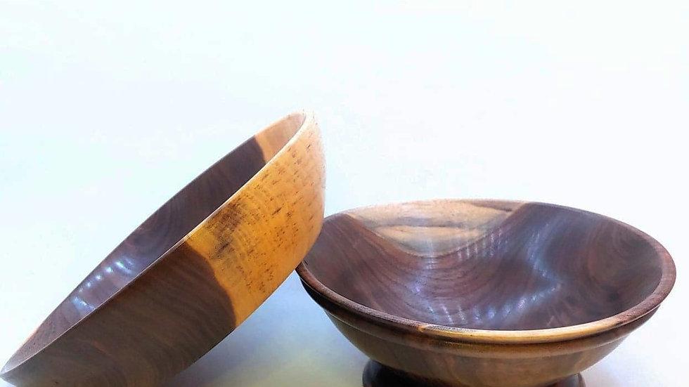 Black Walnut Bowl Set
