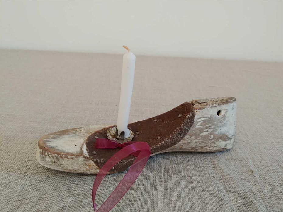 Kerzenständer Schuh
