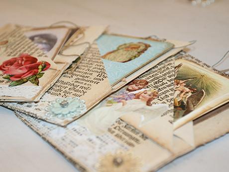 Handgenähte Karten