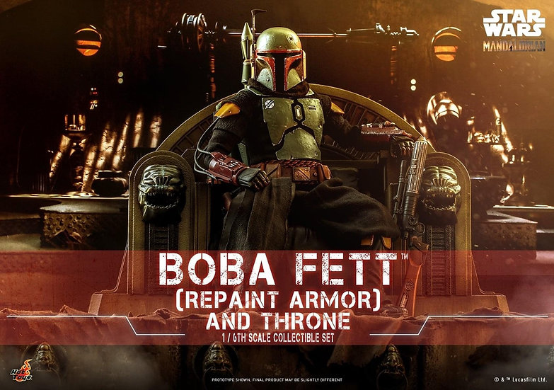 HOT TOYS 1/6 :  BOBA FETT™ (REPAINT ARMOR) AND THRONE