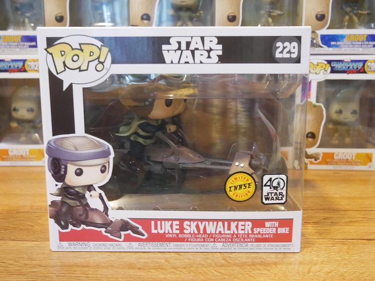 Funko POP Deluxe: Luke Skywalker with Speeder Bike (CHASE)