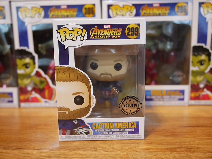 Funko POP Marvel: Avengers Infinity War - Captain America w/ weapons IE