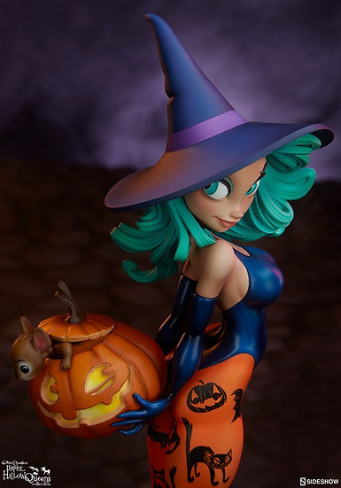 Sideshow : Pumpkin Witch Statue
