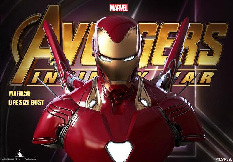 Queen Studios : Avengers Infinity War : Ironman MK L Life Size Bust