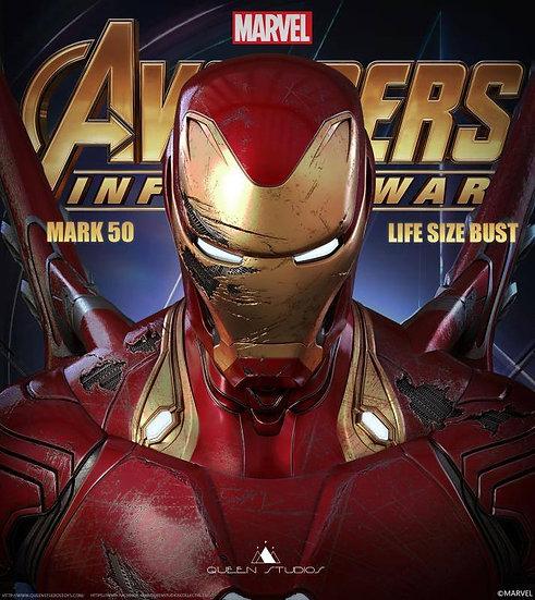 Queen Studios : Avengers Infinity War : Ironman MK L Damaged Life Size