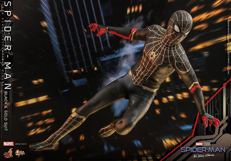 HOT TOYS 1/6 :  SPIDER-MAN: NO WAY HOME SPIDER-MAN (BLACK & GOLD SUIT)