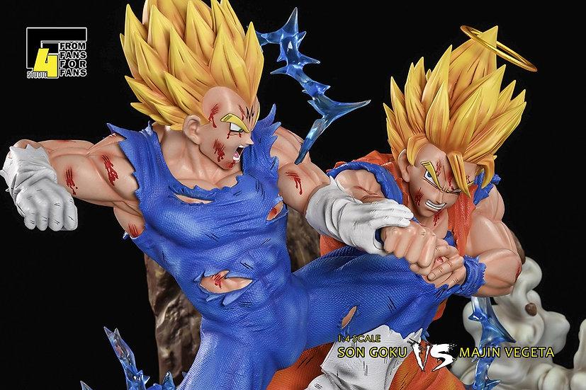 Xceed x F4 Studio : Son Goku vs Majin Vegeta 1/4 Scale