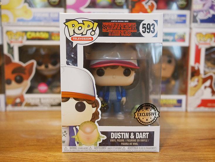 Funko POP Television: ST - Dustin w/Baby Dart (EX)