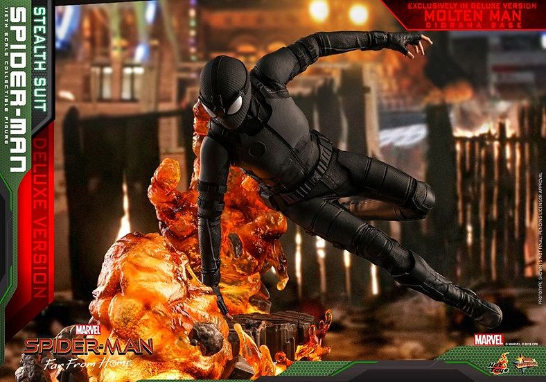 Hot Toys : SPIDER-MAN: FFH SPIDER-MAN (STEALTH SUIT)[Deluxe]