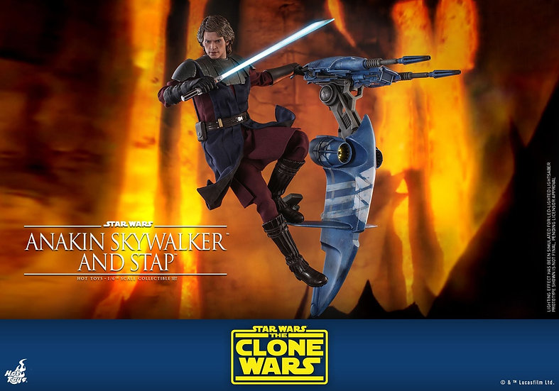HOT TOYS 1/6 : STAR WARS: THE CLONE WARS ANAKIN SKYWALKER AND STAP
