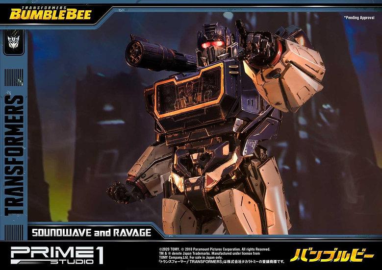 PRIME1STUDIO : Transformers: Bumblebee (Film) Soundwave & Ravage