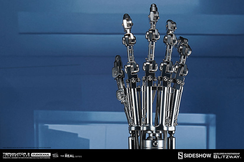 SIDESHOW 1/1 : T-800 Endoskeleton Arm and Brain Chip