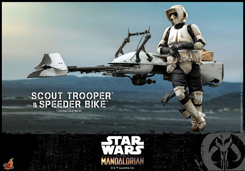 Hot Toys 1/6 : THE MANDALORIAN SCOUT TROOPER AND SPEEDER BIKE