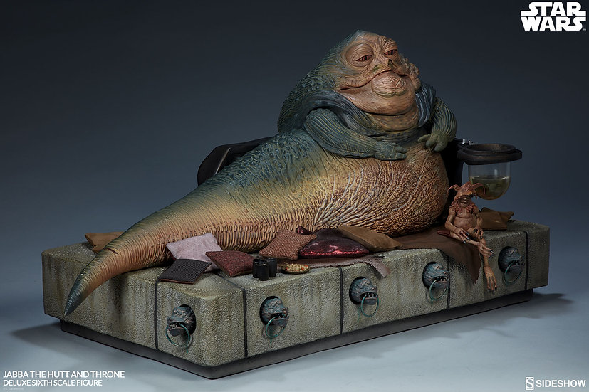 SIDESHOW 1/6 :  Jabba the Hutt and Throne Deluxe