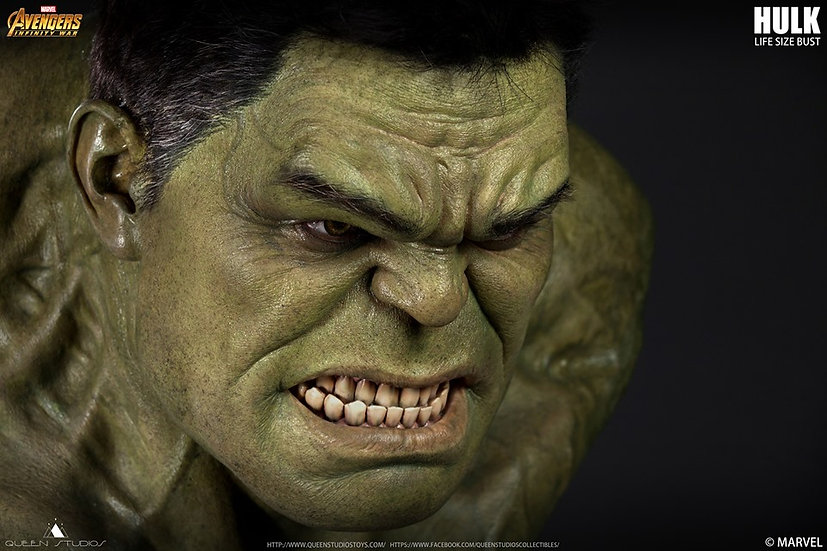 Queen Studios : Hulk Bust Life Size