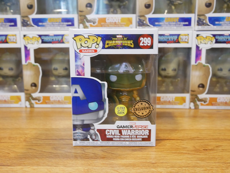 Funko POP Games: Marvel-CoC-Civil Warrior (GR) (GW) IE