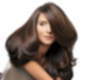 brunette with balayage with long layered hair cut, and a beautiful blow out