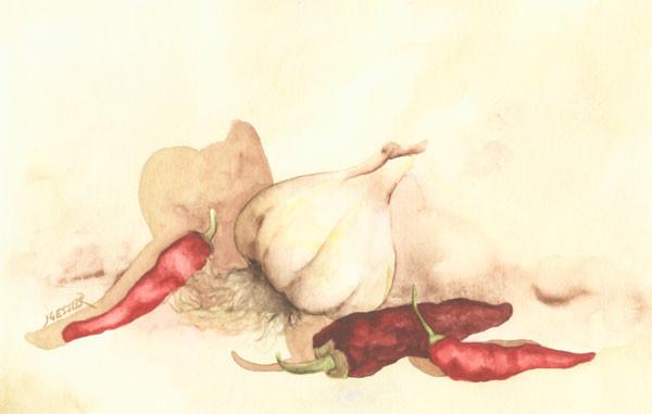 Garlic and Hot Peps