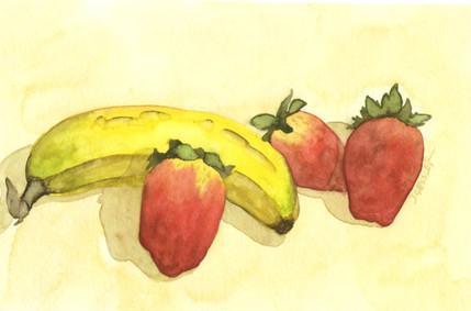 Banana and Strawberries