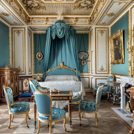 In the Royal Apartments at the Château de Chantilly - the bedroom of Duchess Sophie