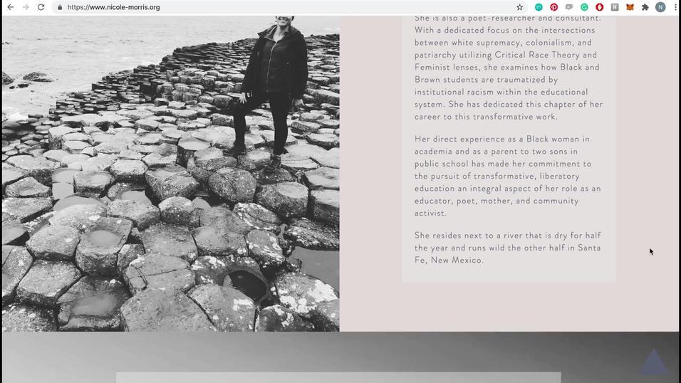 Nicole Morris Website Desktop ‐ Made wit
