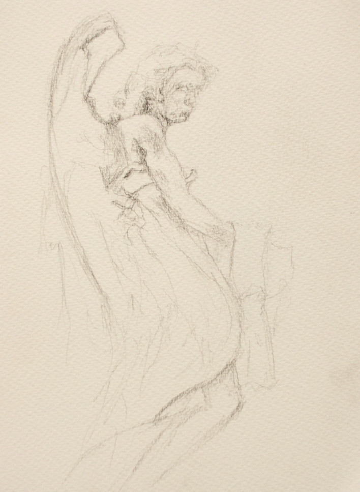 Angel on a Roman Bridge
