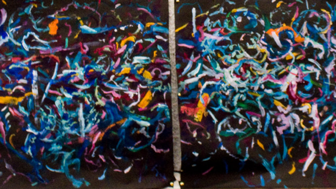 Sneak peak of last month's five hour live painting session with AD Festival Days, and Satie'