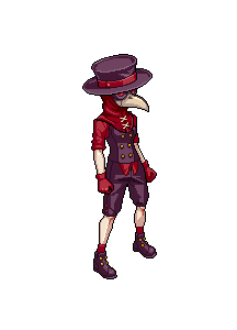 Fell Seal Arbiter's Mark video game sprite Plague Doctor character