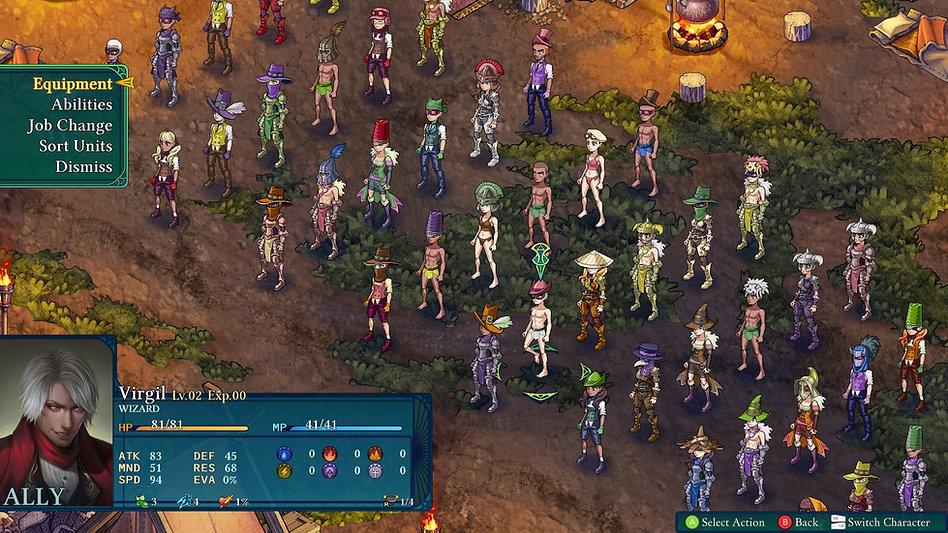 Fell Seal Arbiter's Mark game screen shot screenshot tactics tactical RPG character customization creation options