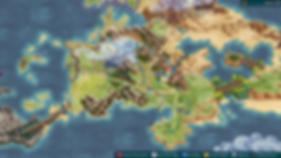 Fell Seal Arbiter's Mark world map screen shot video game tactical rpg