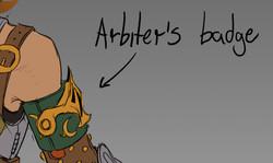 Arbiter's Badge Sketch