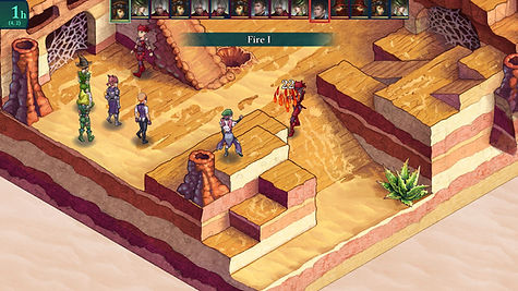 Fell Seal Arbiter's Mark game screen shot screenshot tactics tactical RPG desert map fire spell magic
