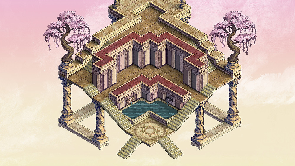 Immortal Council's terrace. Scaled down a lot ^^