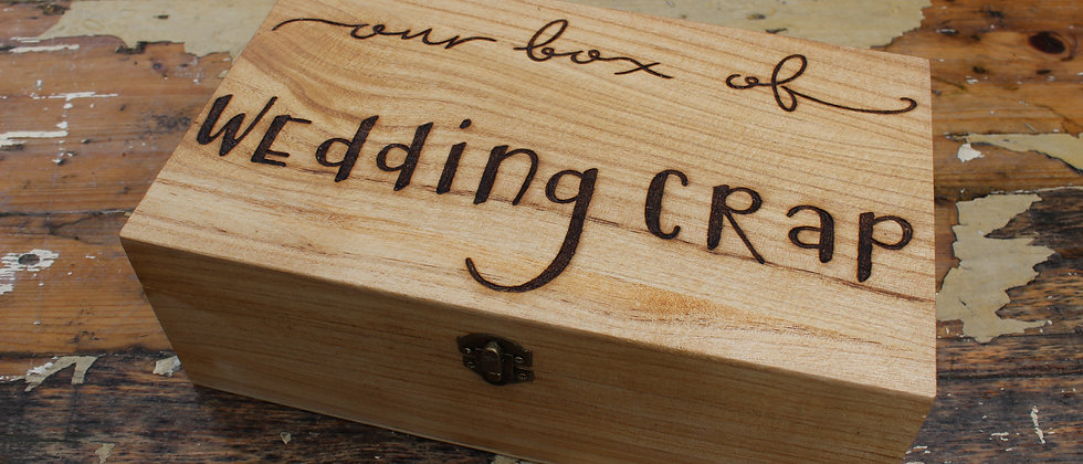 Wedding Crap Keepsake Box
