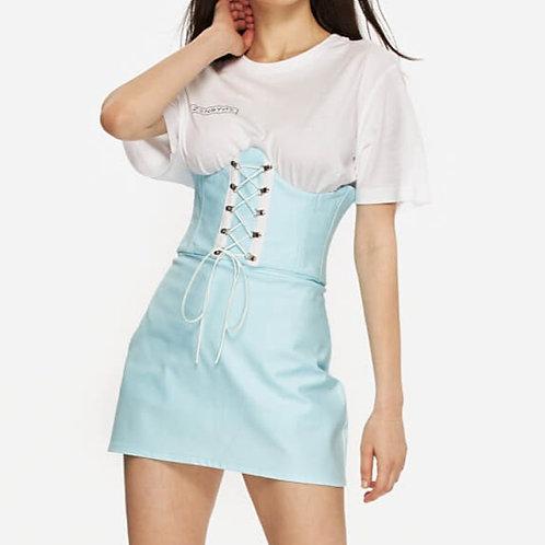 Baby Blue Corset Skirt