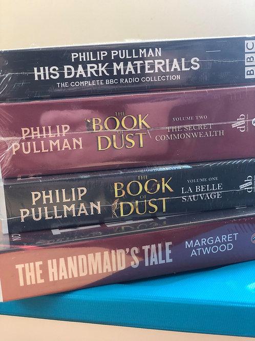 Audio Books - Philip Pullman & Margaret Atwood