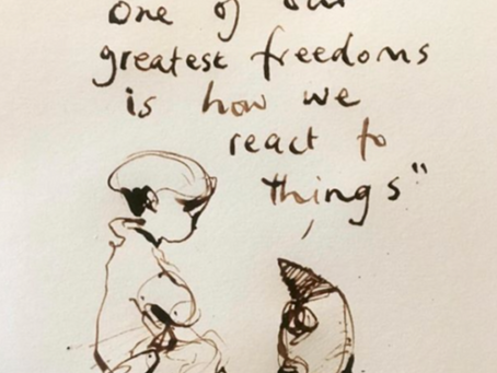 """One of our greatest freedoms is how we react to things"""