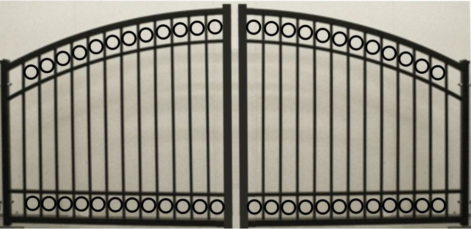 Circle Arch Double Gate Heavy Duty