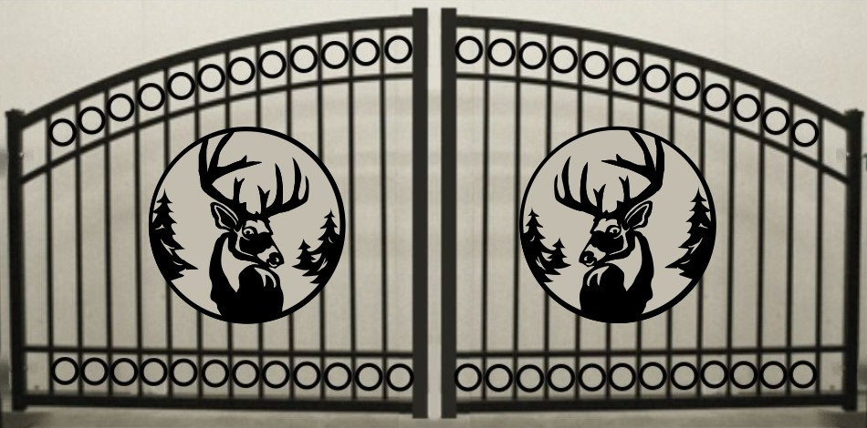 Deer Head Double Circle Arch Gate 3' circle