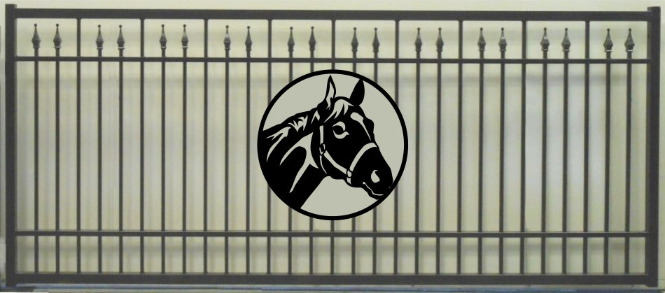 Horse Head Single Princess Rectangle Gate 3' Circl