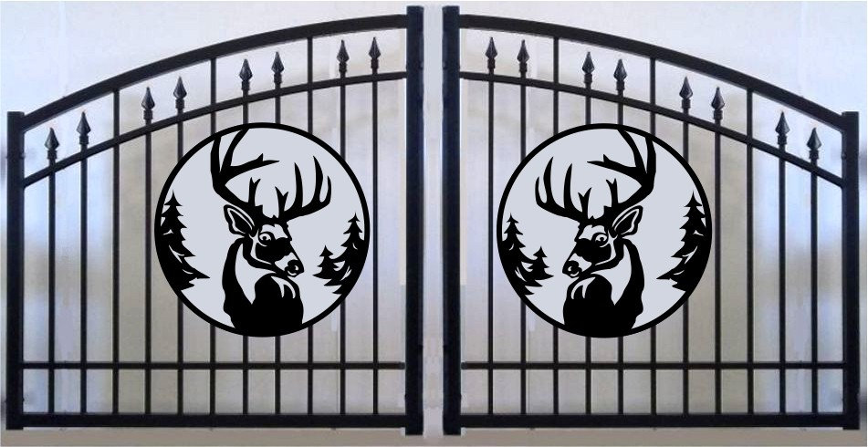 Deer Head Double Prince Arch Gate 3' circle