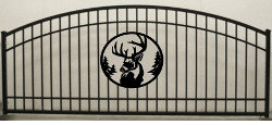 Deer Head Single Plain Jane Arch Gate 3ft circle