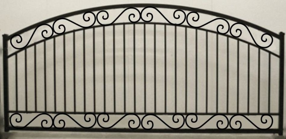 Scroll Arch Single Gate Heavy Duty