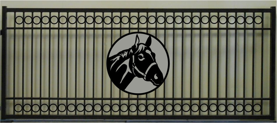 Horse Head Single Circle Rectangle Gate 3' Circle