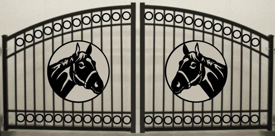 Horse Head Double Circle Arch Gate 3' circle