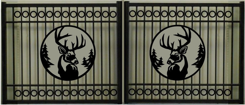 DeerHead Double Circle Rectangular Gate 3' Circle