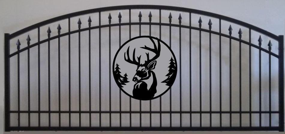 Deer Head Single Prince Arch Gate 3' circle