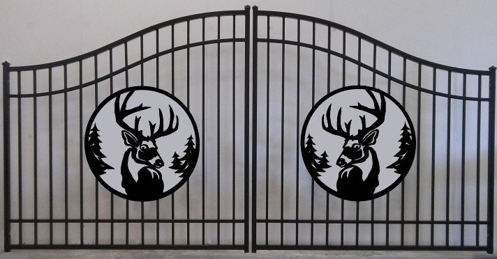 Deer Head Double Plain Jane Bell Gate 3' Circle