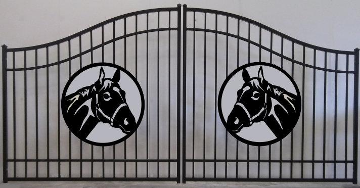 Horse Head Double Plain Jane Bell Gate 3' Circle